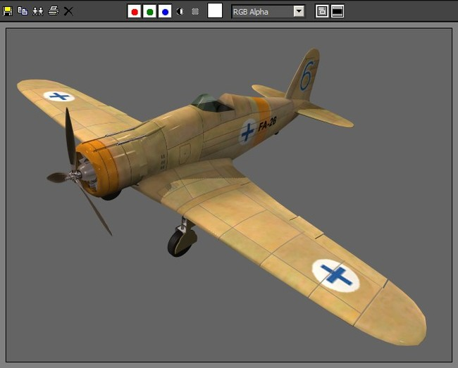 复古军事航空战机模型