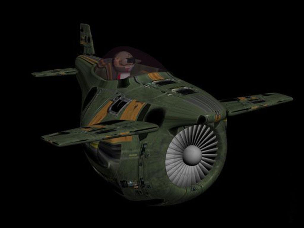二战卡通战斗飞机一辆图片下载飞机三维动画游戏模型
