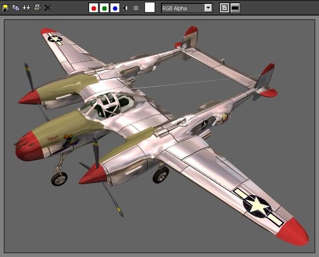 军事飞机空军战斗机滑翔器模型38