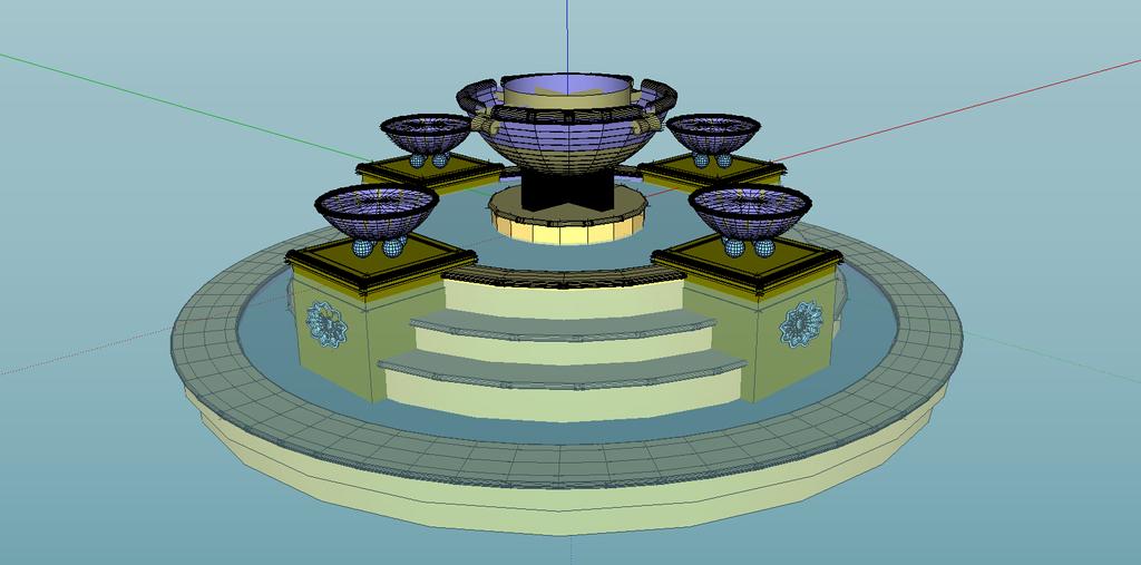 喷泉sketchup景观模型