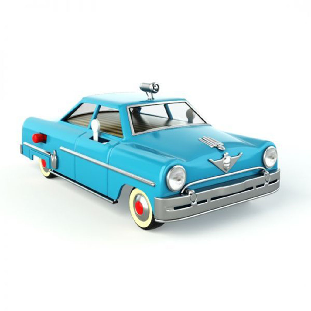 3d老式玩具车
