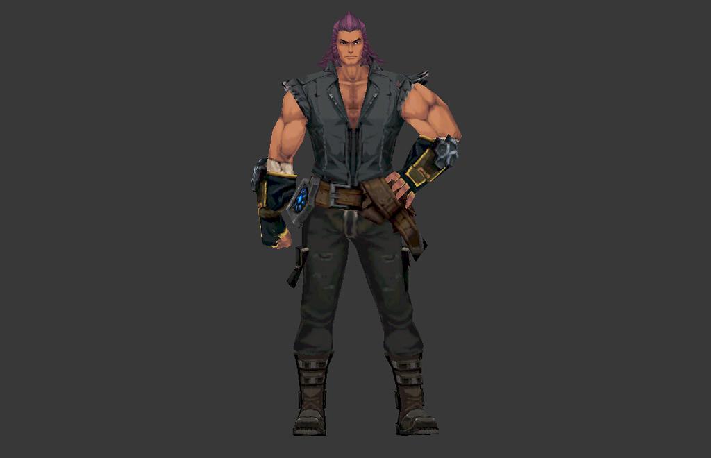 动漫肌肉男人物游戏模型
