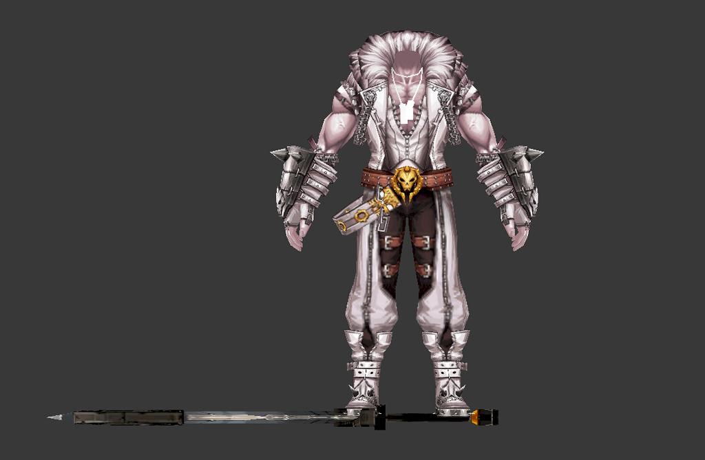 3d游戏侠士人物角色模型