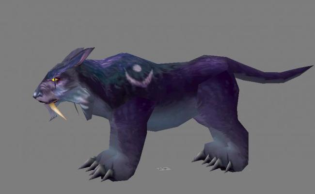 暗夜豹3d游戏模型模板下载(图片编号:13639754)_动物