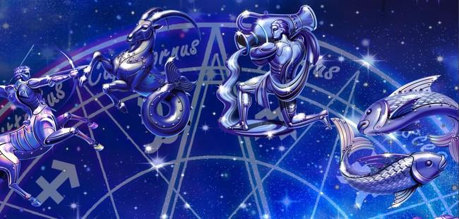 3d梦幻12星座银河电视背景装饰画图片