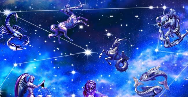高清唯美12星座銀河電視背景裝飾畫圖片