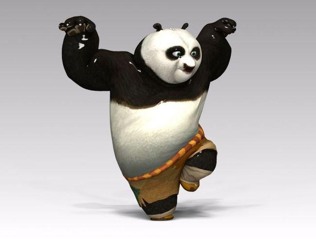 超屌的功夫熊猫3d模型