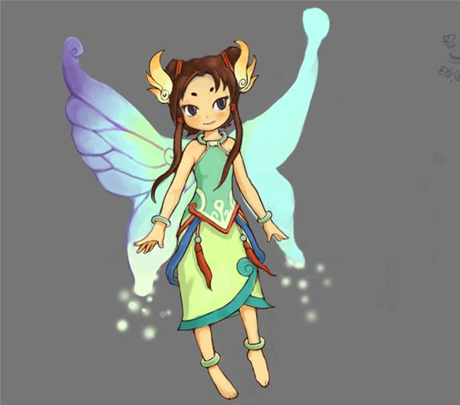 蝶仙子游戏人物+动作