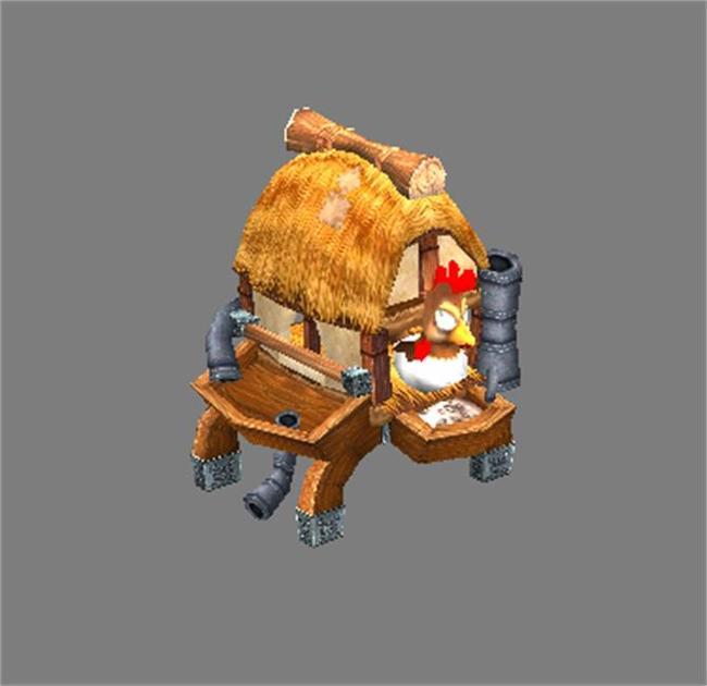 写实原画风格游戏模型鸡的饲养屋