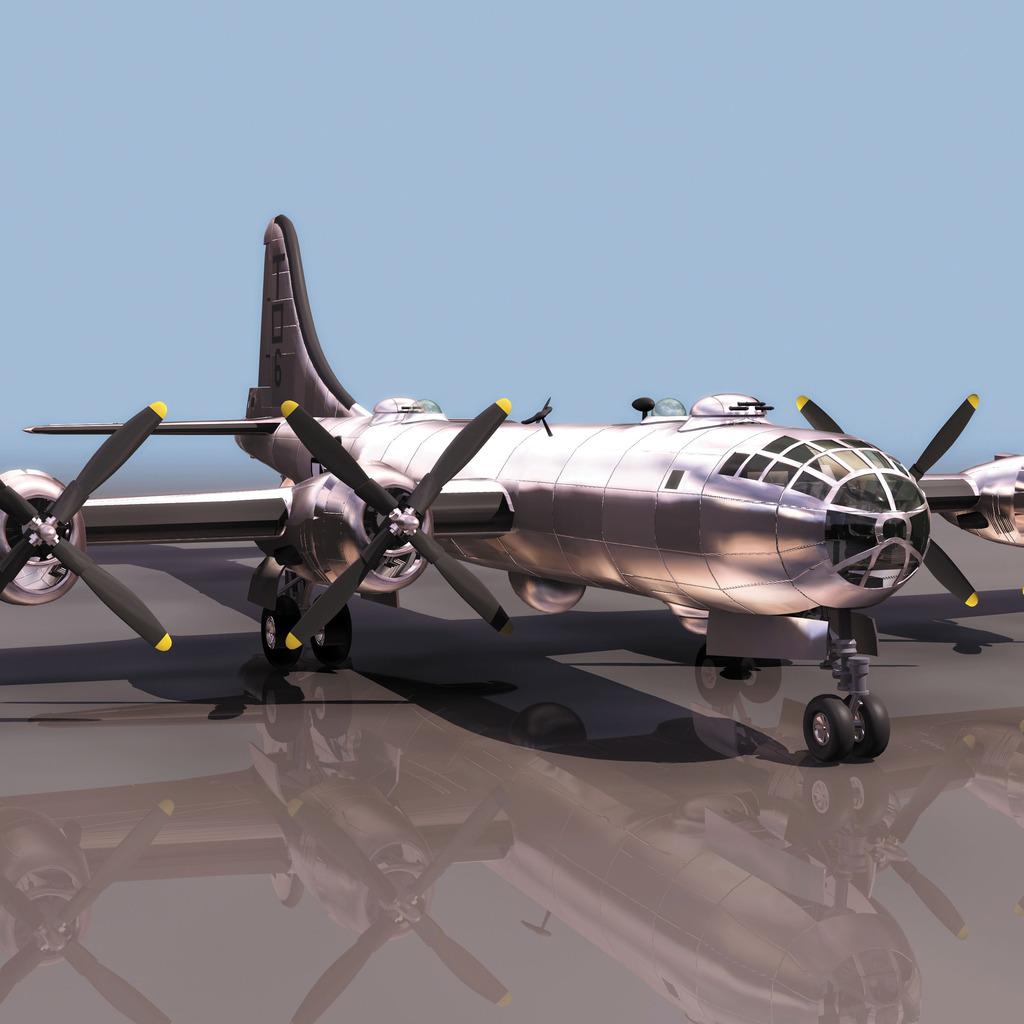 b29战斗飞机模型模板下载 b29战斗飞机模型图片下载b29