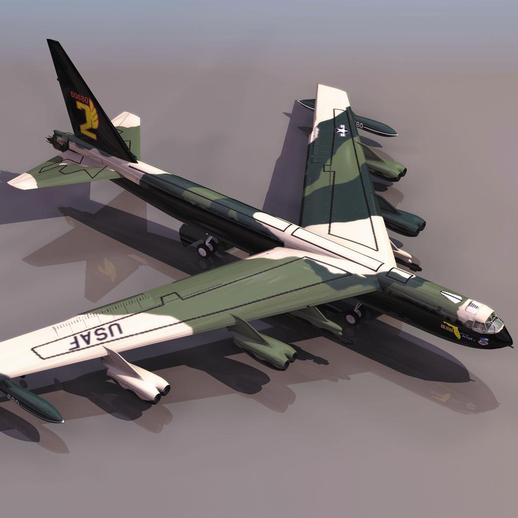 b52军用战斗飞机模型