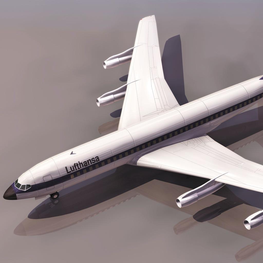 boein707国外航空飞机模型