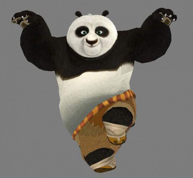 功夫熊猫3d模型
