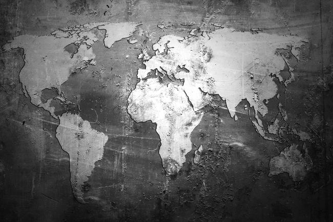 3d立体壁画世界地图电视背景墙