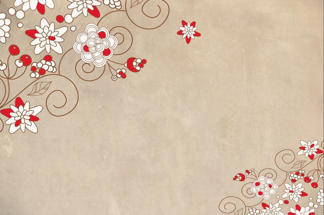 现代简约复古对角花纹背景墙壁画图片