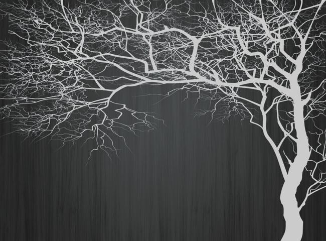 现代简约白色树背景墙壁画高清图片下载(图片编号)墙.图片