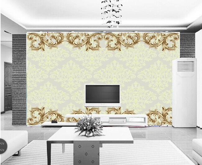 高清欧式古典花纹电视背景墙模板下载雕刻图