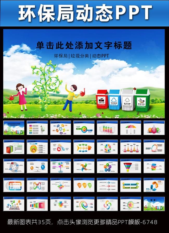 环保局垃圾分类幼儿环保ppt模板