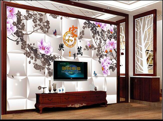 手绘墙画梅花树