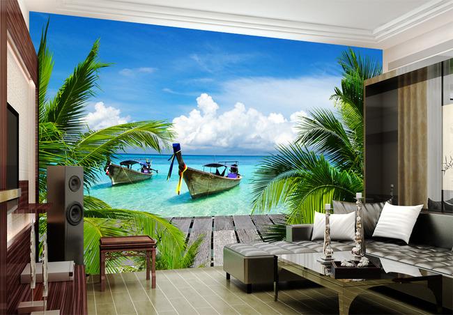 背景墙 装饰画 电视背景墙 3d电视背景墙 > 大海3d风景背景墙背景画