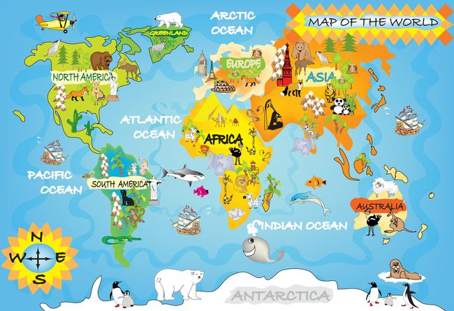 陶瓷 墙画 卡通 儿童 动物 环球 世界 旅游 气球 海豚 热带鱼 海洋