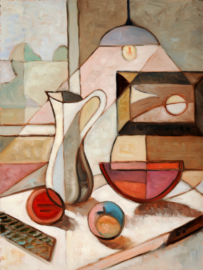 现代抽象手绘油画