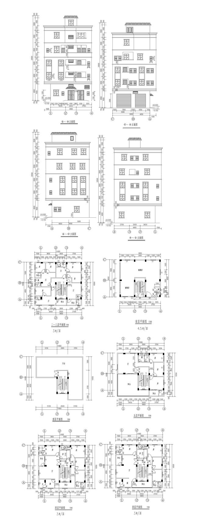 家居建筑cad图纸图片下载家居建筑图纸 家居cad施工图 家装cad图纸