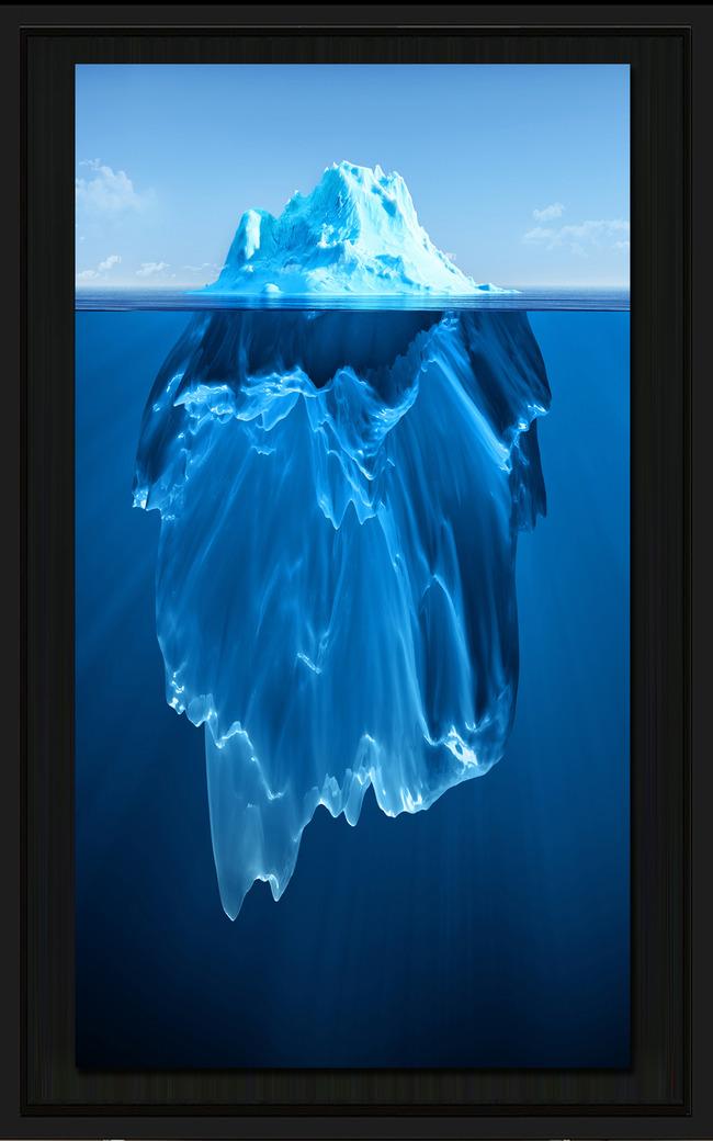 3d立体冰山一角玄关冰川一角玄关背景墙