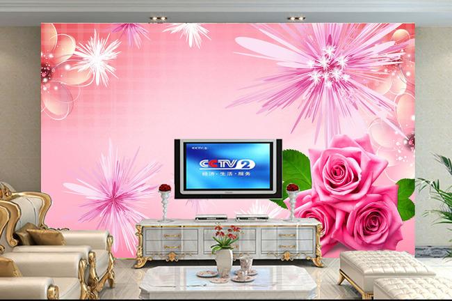 客厅电视背景墙 > 粉色