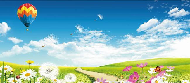 背景墙 装饰画 电视背景墙 现代简约电视背景墙 > 蓝天白云绿草地氢气