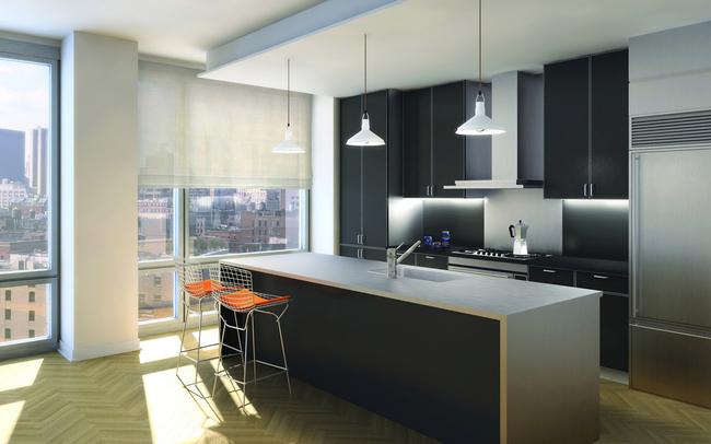 现代厨房厨柜时尚家居室内设计