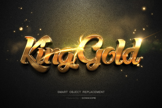 3d立体金色金属淘宝电影海报ps字体