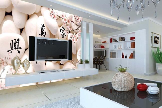 手绘壁画 壁画背景墙 中式窗花 中式婚礼 中式图案 中式3d模型房间
