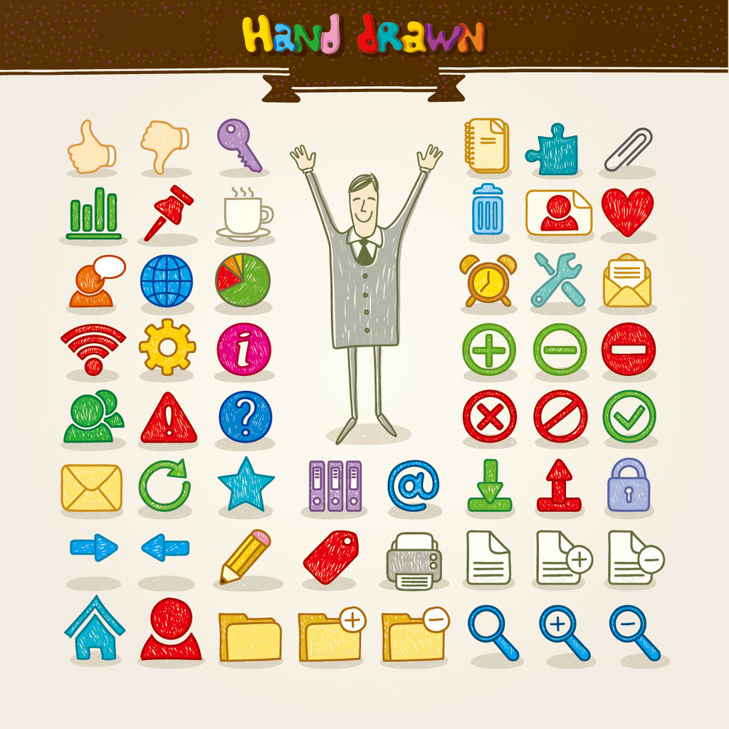 图标图片下载卡通可爱手绘app图标 创意 标签 小图标 手机 ppt 标志