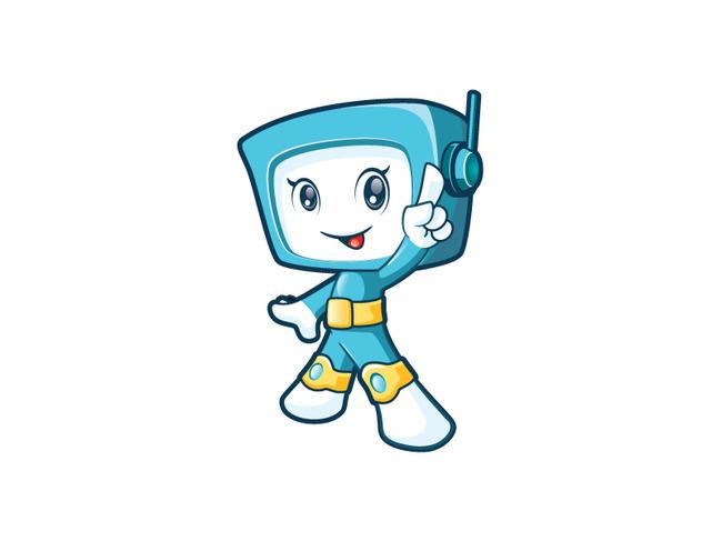 机器人科技科学卡通人物卡通吉祥物