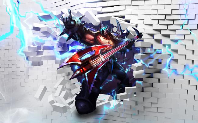 3d立体lol英雄联盟游戏人物网吧海报