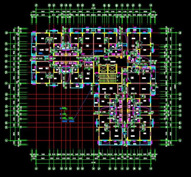 建筑户型平面图48cad天正建筑t20