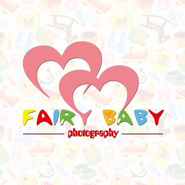 设计图片下载爱心儿童育婴婴儿用品标志logo设计 粉色 卡通字体可爱