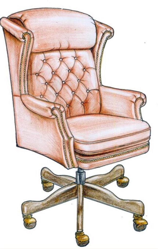 手绘办公椅