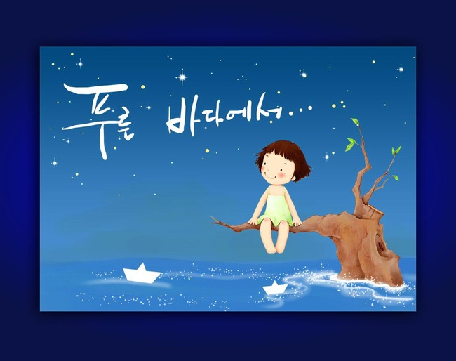 韩国手绘装饰画