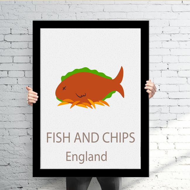 创意各国著名食物装饰画有框画系列1