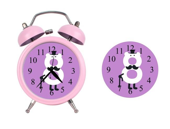 儿童可爱创意卡通数字8闹钟钟面设计