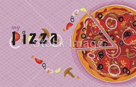 披萨带色简笔画