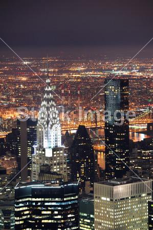 航空 美国 美国 建筑 吸引力 建筑 克莱斯勒 市 城市景观 市中心