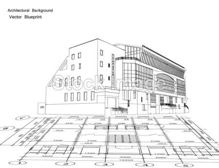 >一栋房子的建筑蓝图.