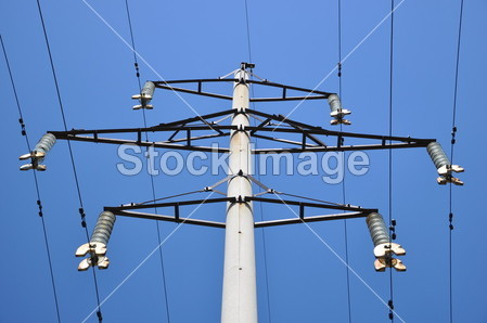 混凝土电杆摄影图片下载
