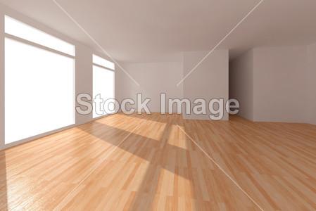 清除镶木地板的房间摄影图片下载