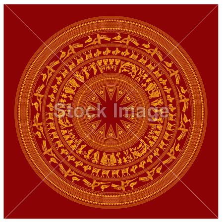 越南著名设计装饰艺术明细数据符号的传统 ·
