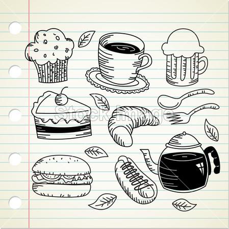 汉堡手绘简笔画