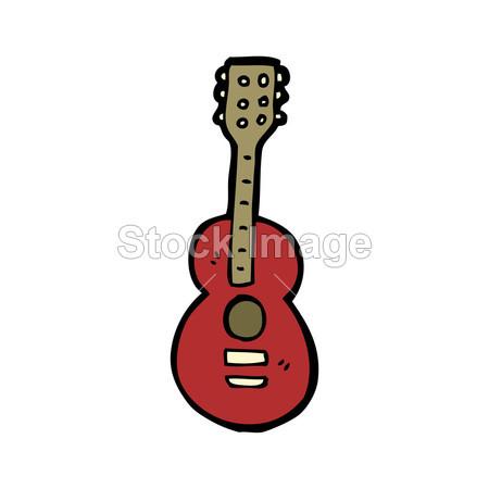 > 吉他卡通